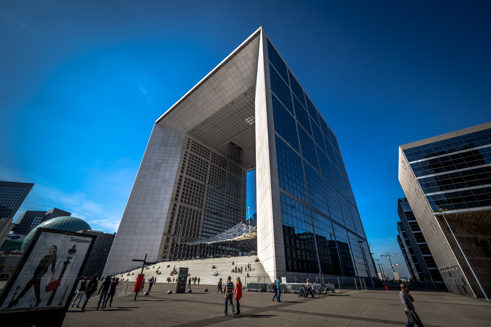 Best places to take pictures in Paris - La Grande Arche de la Défense, Paris by Darwin. Taken with a Canon 6D and Rokinon 14mm f/2.8L IS USM lens.